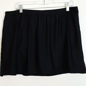 Croft & Barrow Black Swim Skirt 18W